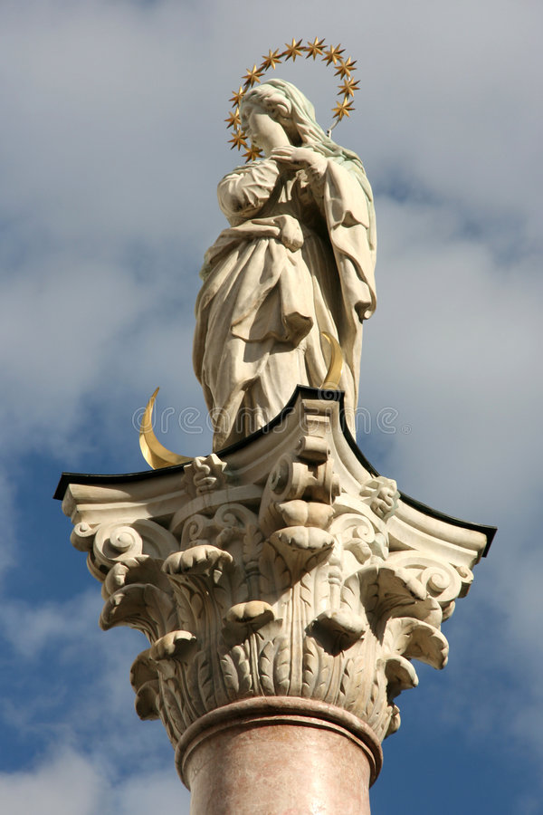 Our Lady column stock photography