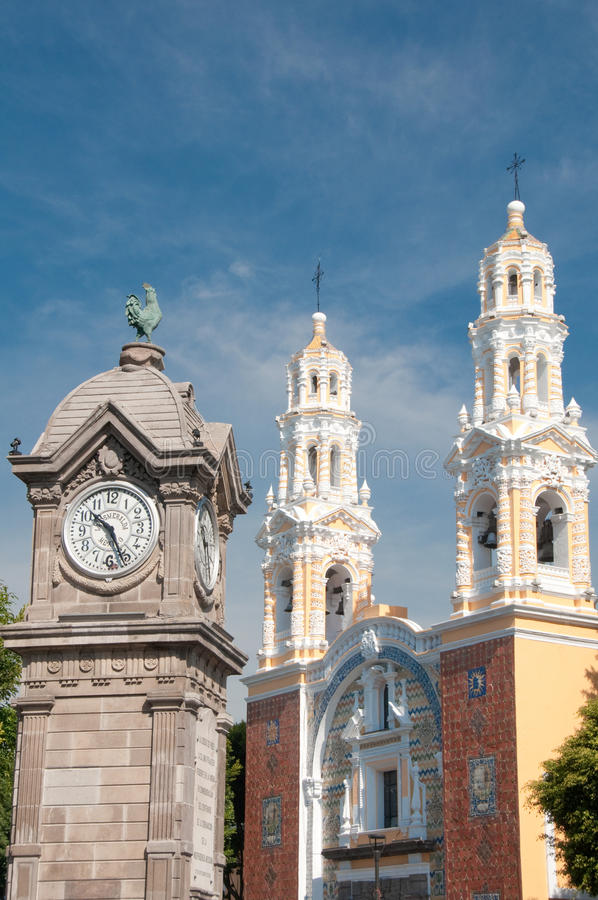 Our Lady of Guadalupe church in Puebla (Mexico). Our Lady of Guadalupe church, Puebla (Mexico royalty free stock photo