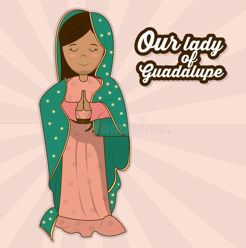 Our Lady Of Guadalupe Sacred Saint Symbol Stock Vector