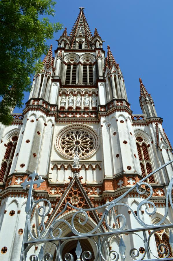 Our Lady of Lourdes. Church, Trichy, India royalty free stock images