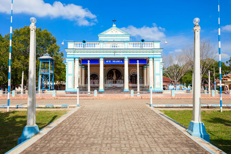 Our Lady Madhu Church. The Shrine of Our Lady of Madhu is a Roman Catholic Marian shrine in Mannar district of Sri Lanka stock image