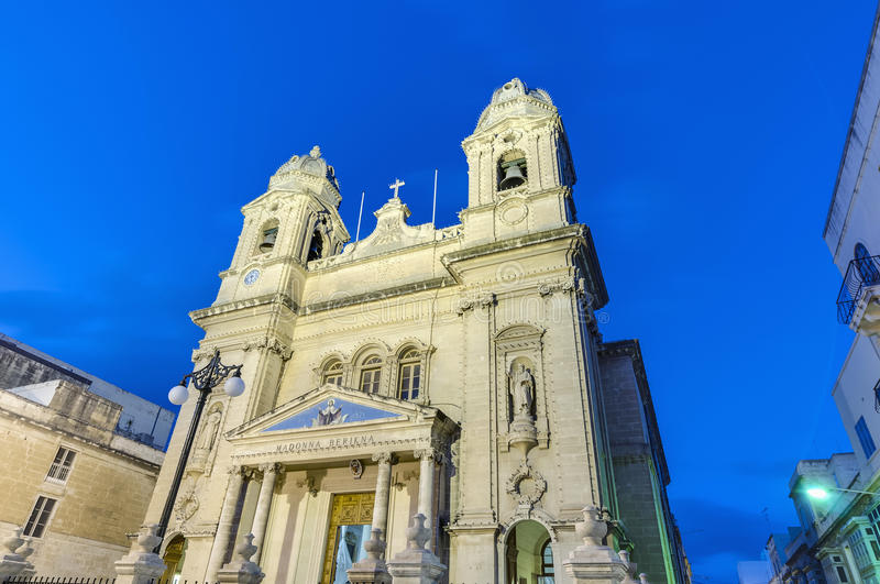 Our Lady of Mount Carmel in Gzira, Malta. Our Lady of Mount Carmel parish church in Gzira, Malta stock photo