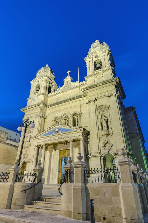 Our Lady of Mount Carmel in Gzira, Malta. Our Lady of Mount Carmel parish church in Gzira, Malta stock photography