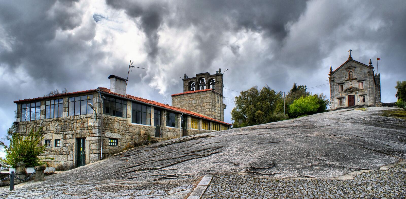 Download Our Lady Of Pilar Sanctuary In Povoa De Lanhoso Stock Photo - Image: 61820992