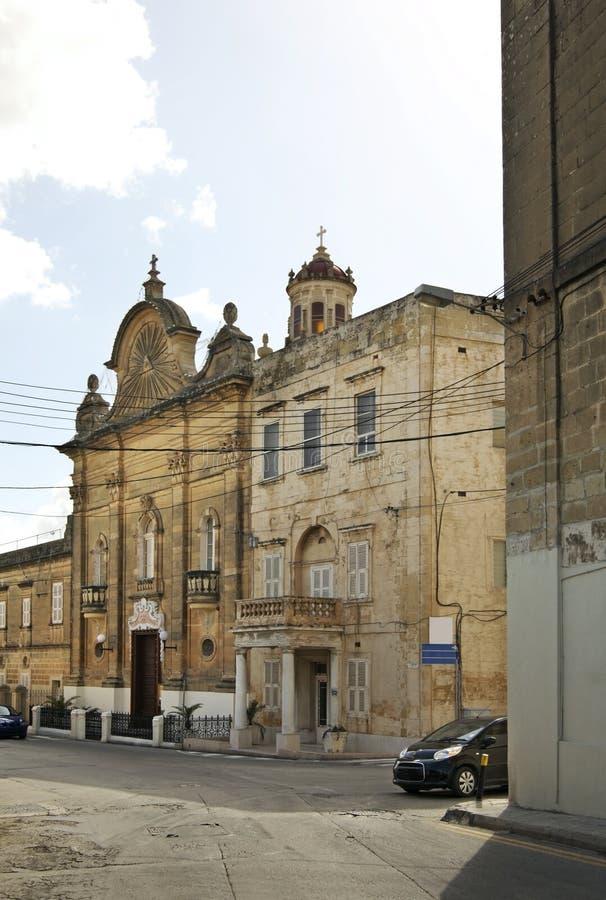 Our Lady of Pompeii church in Victoria. Gozo island. Malta stock image