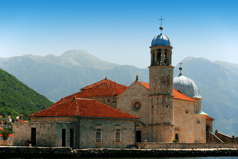 Our Lady of the Rocks in Bay of Kotor, Montenegro stock photography
