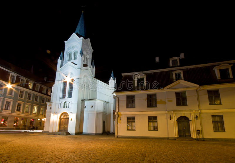 Our Lady of Sorrows Church in Riga royalty free stock images