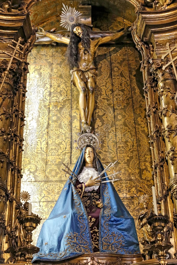 Our Lady of Sorrows stock photography