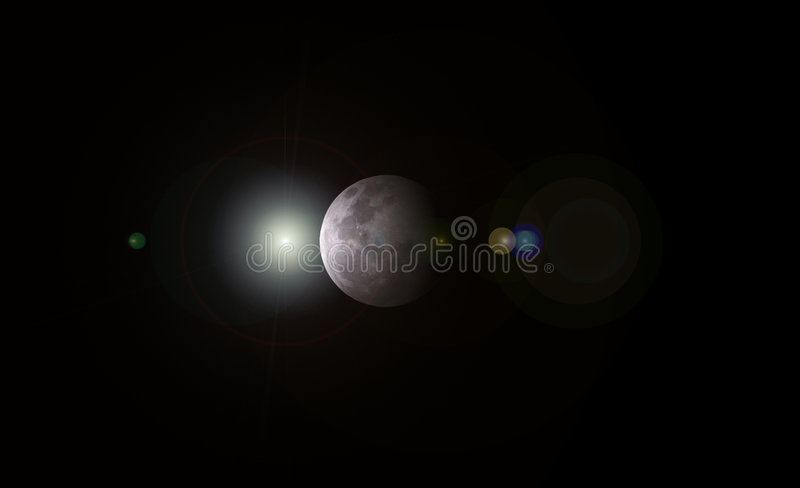 Our Lovely MOON stock image