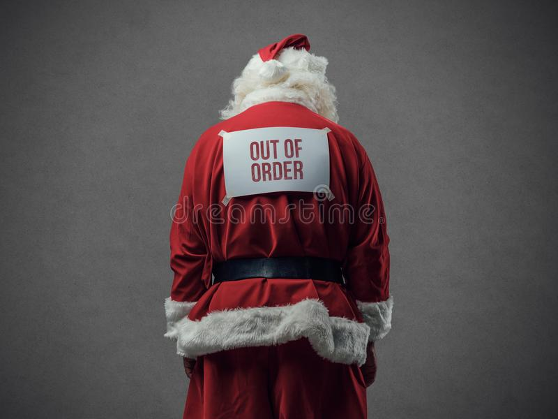 Our of order Santa stock image