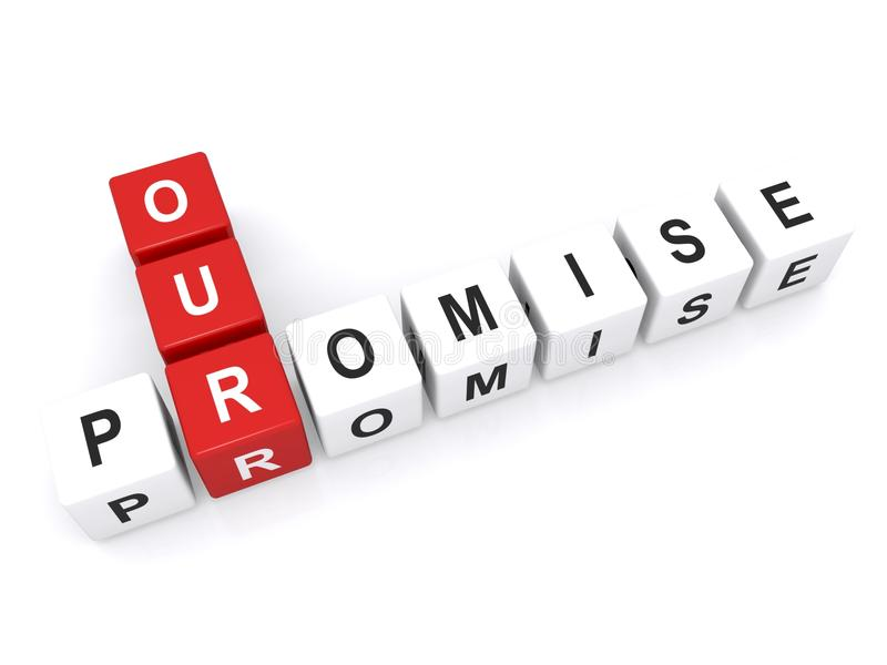 Our promise sign royalty free stock photography