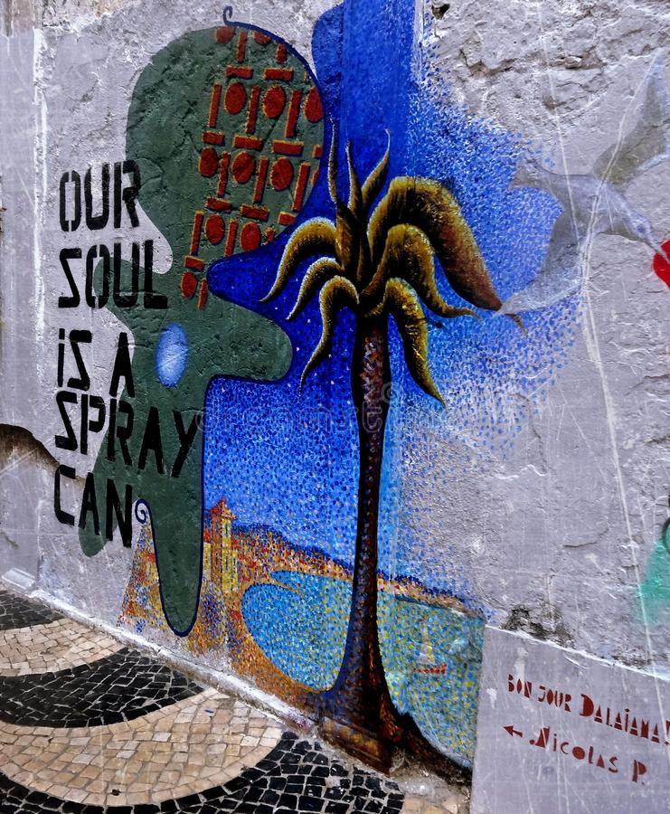 Our Soul Is A Spray Can royalty free stock photos
