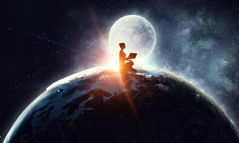 Our unique universe . Mixed media royalty free stock photo