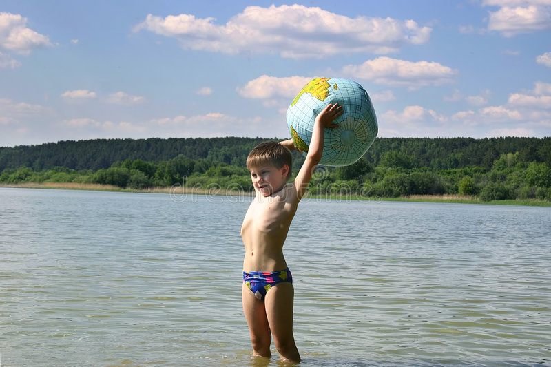 Our world in the сhildren's hands royalty free stock photo