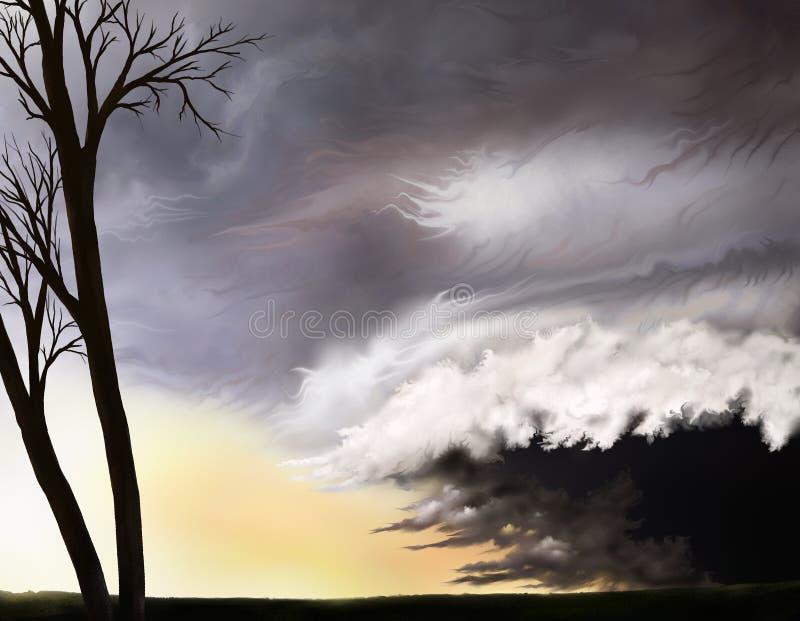 Ouragan illustration stock