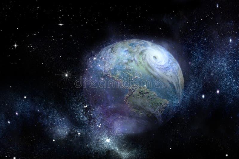 Ouragan de photo de la terre illustration libre de droits