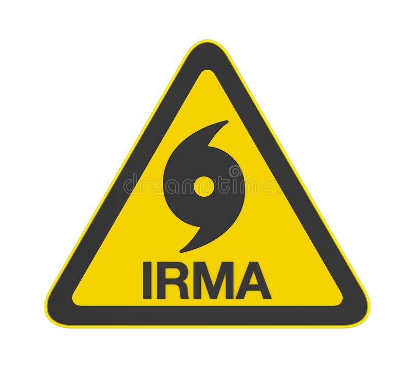 Ouragan Irma Warning Sign Isolated illustration libre de droits