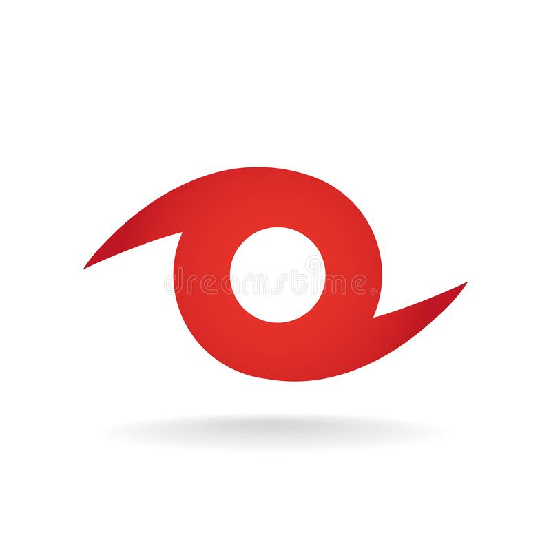 Ouragan Logo Symbol Tempête tropicale illustration de vecteur