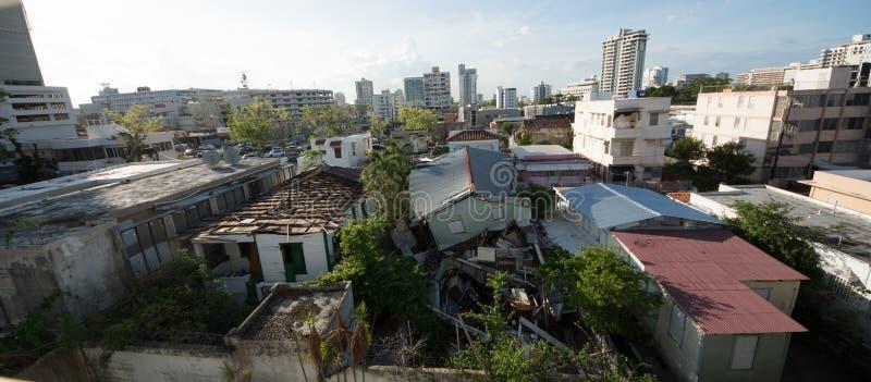 Ouragan Maria Damage au Porto Rico photographie stock libre de droits