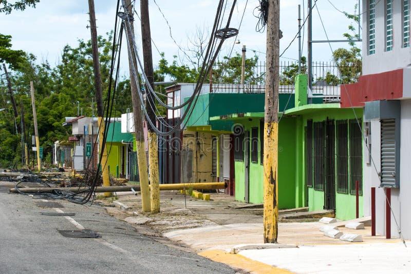 Ouragan Maria Damage au Porto Rico photo libre de droits