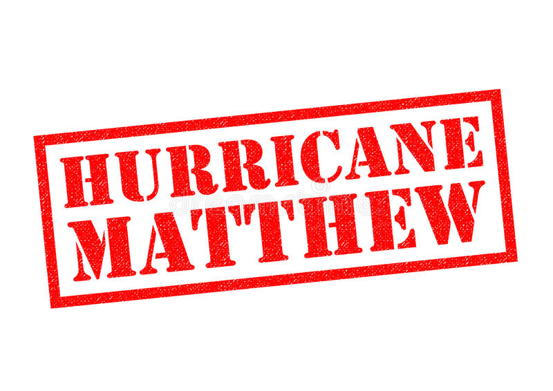 Ouragan Matthew illustration de vecteur
