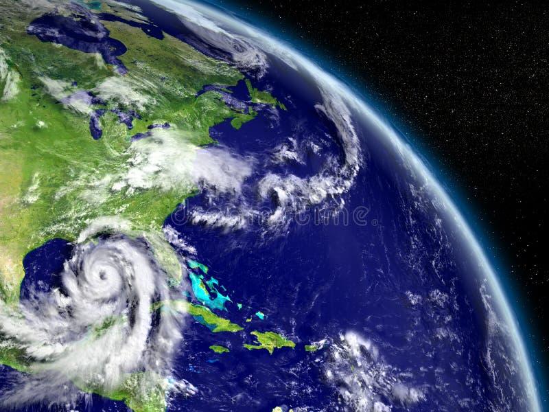 Ouragan Matthew dans le golfe mexicain illustration libre de droits