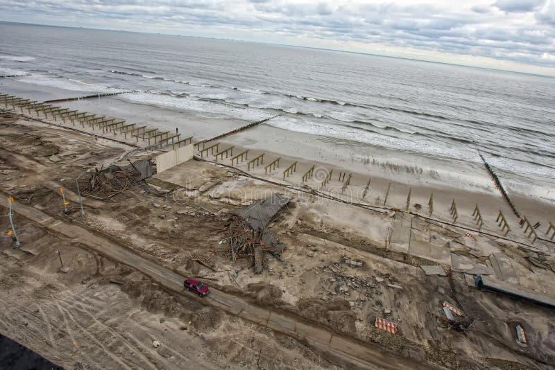 Ouragan Sandy de conséquence image libre de droits