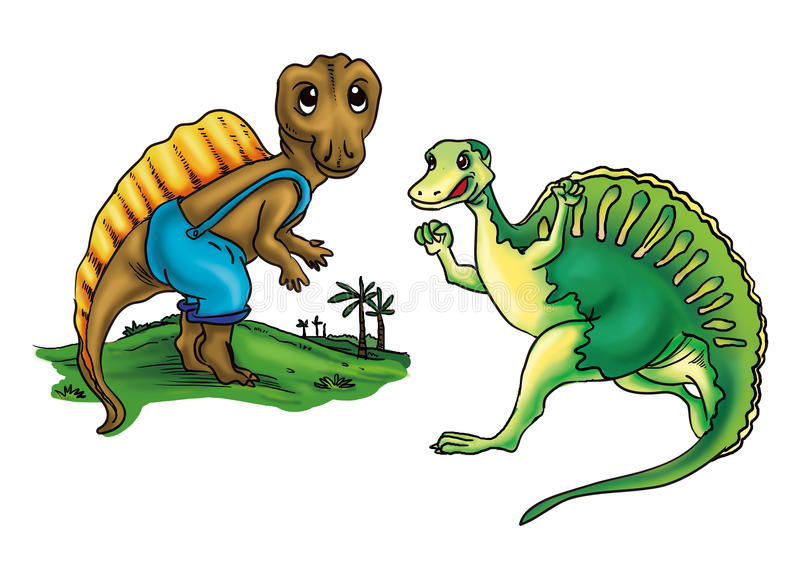 Download Ouranosaurus stock illustration. Image of mail, franked - 27971774