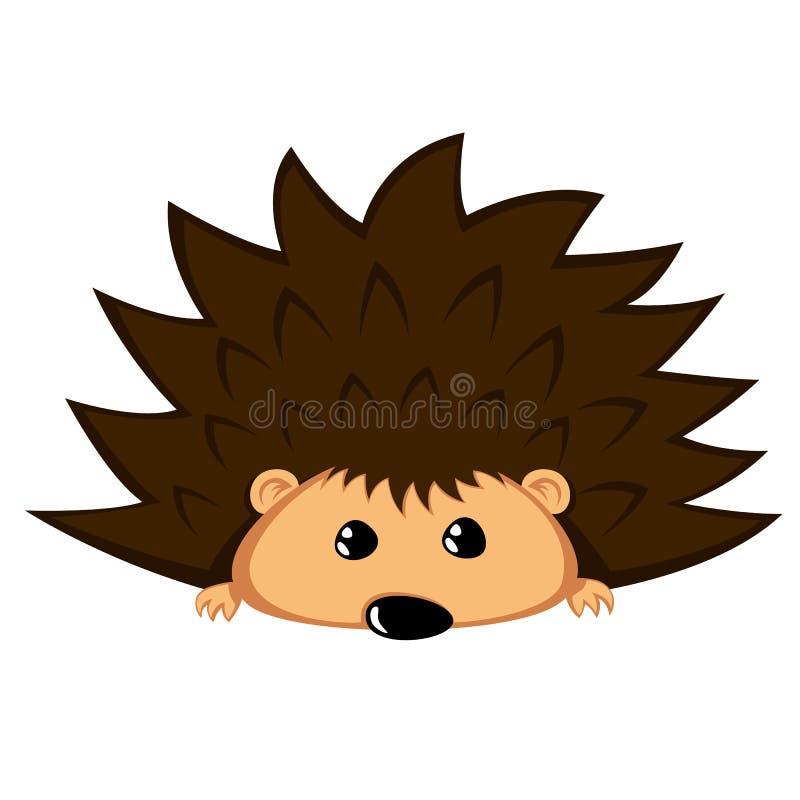 Ouriço bonito - o animal bonito com pedido eyes ilustração do vetor