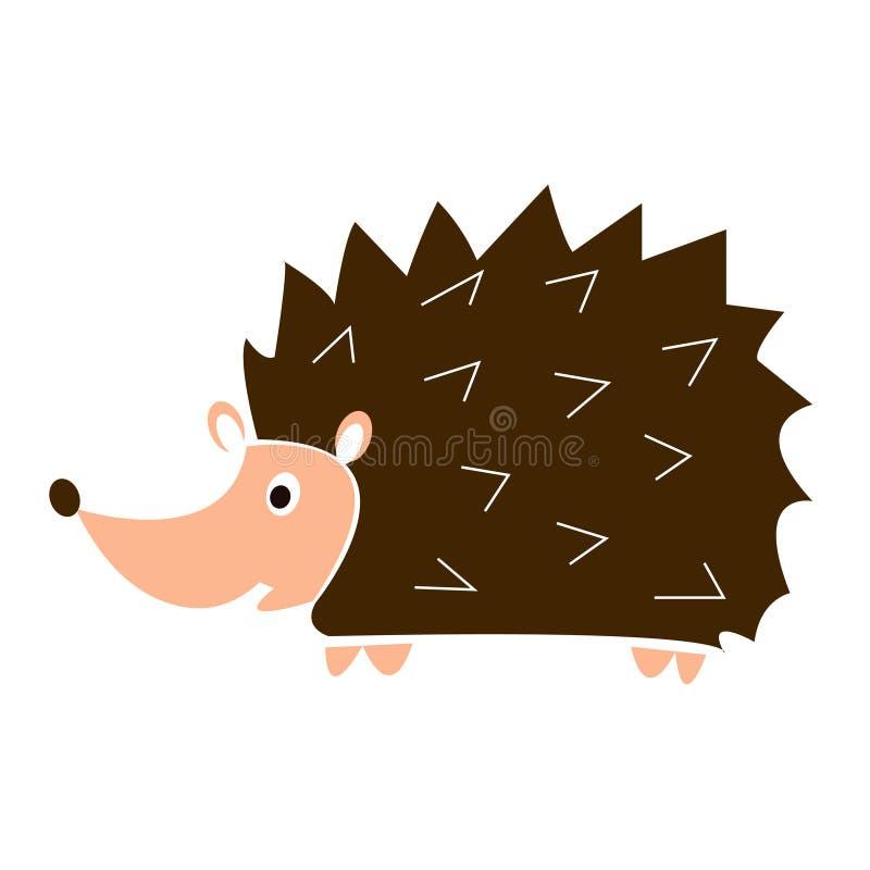Ouriço engraçado dos desenhos animados ilustração do vetor