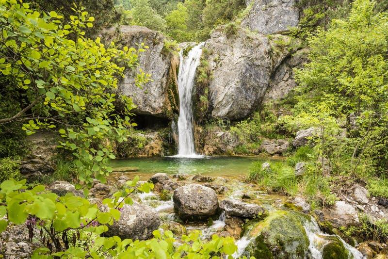 Ourliawatervallen bij Olympus-berg, Griekenland stock fotografie