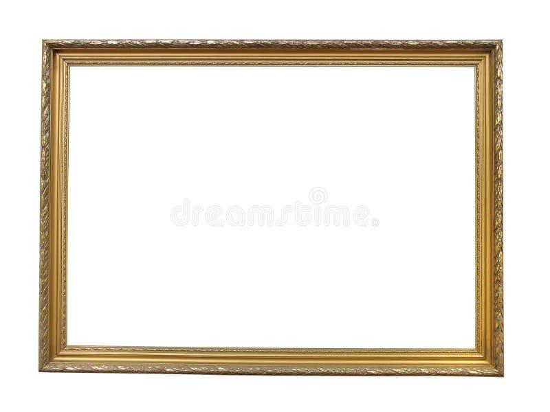 Ouro antigo velho frame de retrato de madeira chapeado fotos de stock royalty free