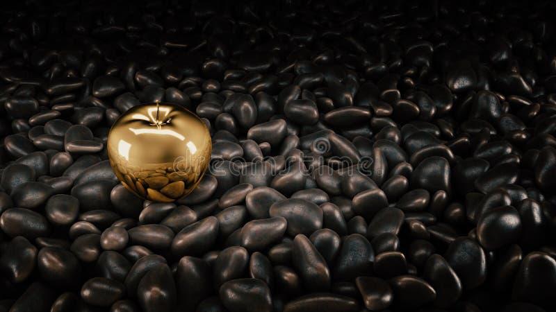 Ouro Apple ilustração do vetor