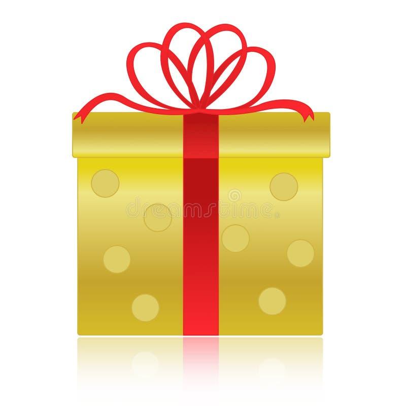 Ouro/caixa de presente dourada ilustração stock