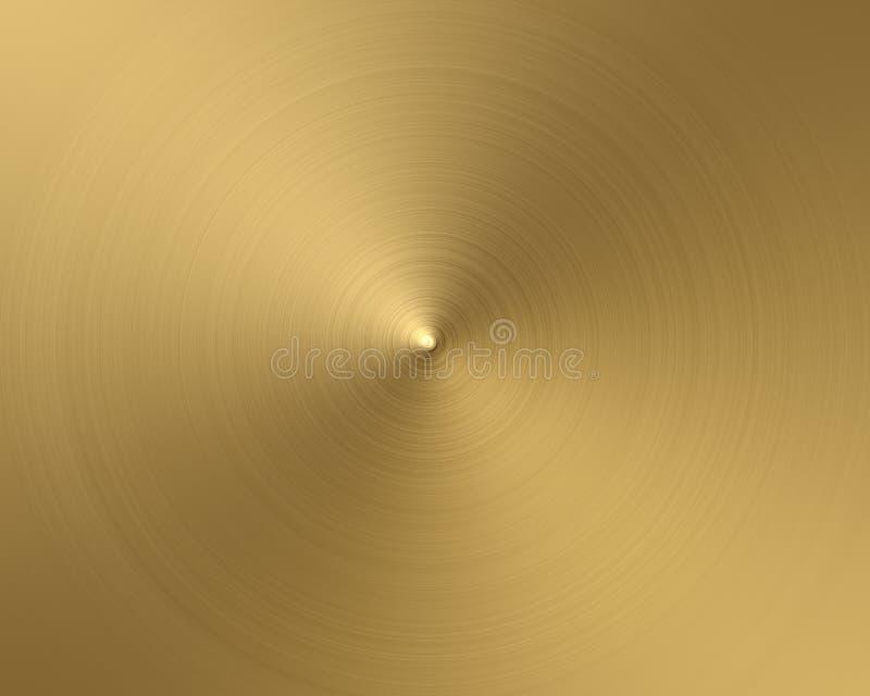 Ouro circular ilustração do vetor