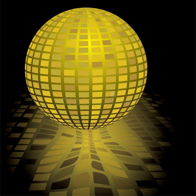 Ouro da esfera do disco ilustração stock