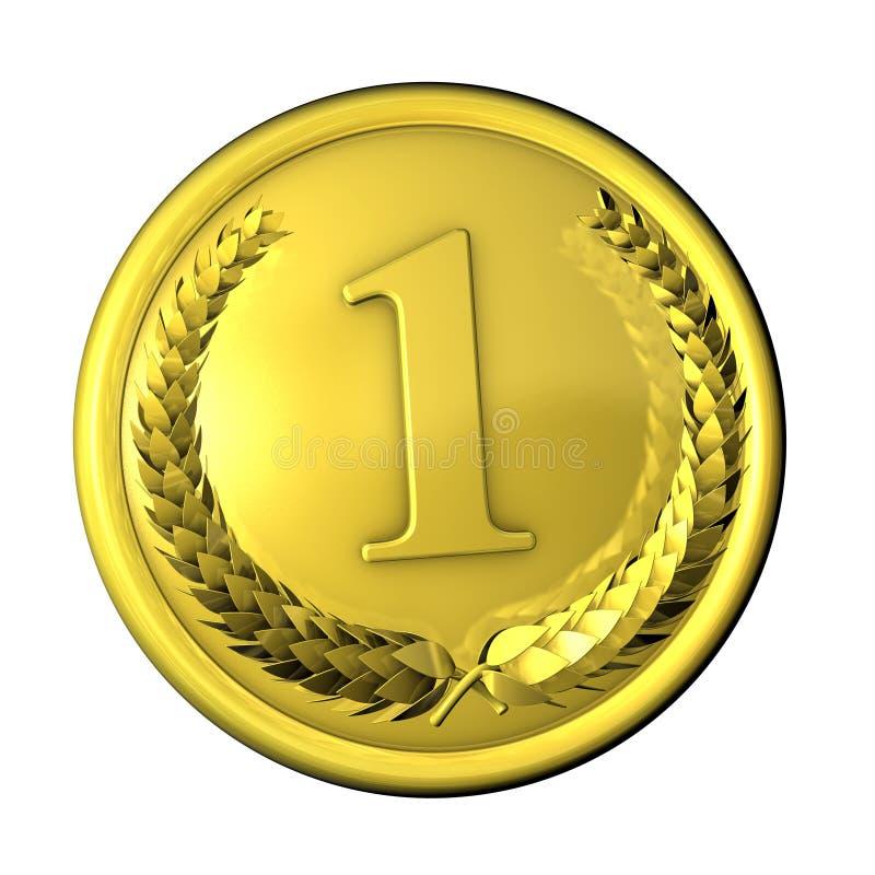 Ouro da medalha ilustração do vetor