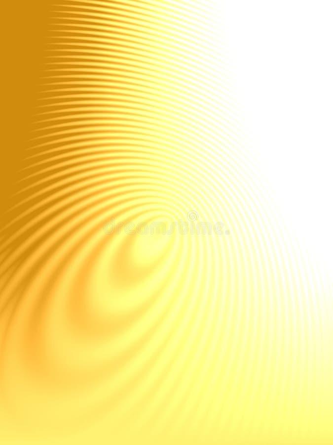 Ouro da textura das ondas das ondinhas ilustração stock