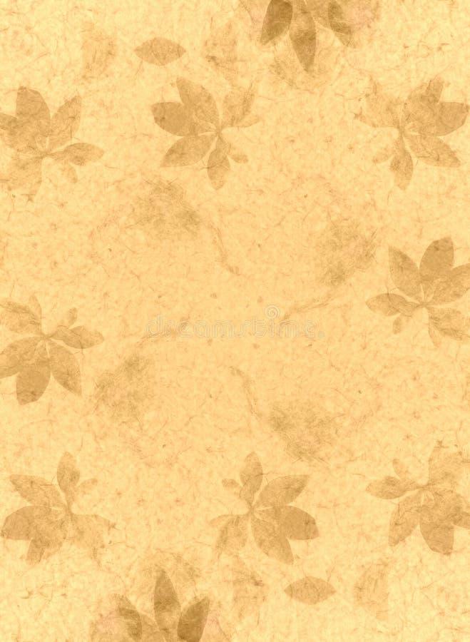 Ouro da textura do papel Handmade ilustração do vetor