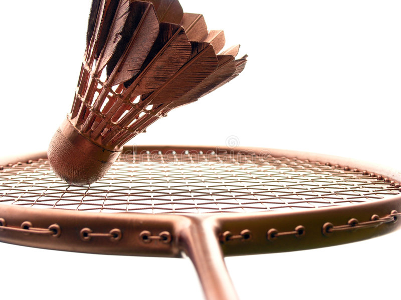 Ouro do Badminton no branco imagem de stock royalty free