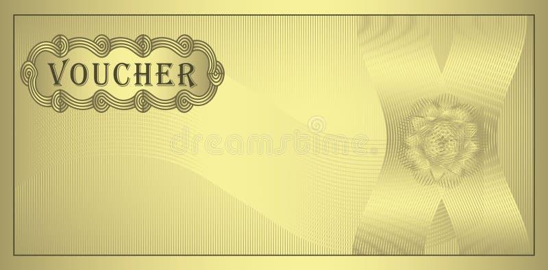 ouro do comprovante ilustração do vetor