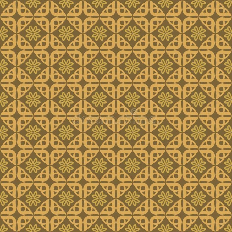 Ouro do fundo do teste padrão do amor do ornamento ilustração do vetor