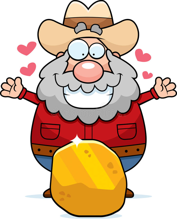 Ouro do mineiro ilustração stock