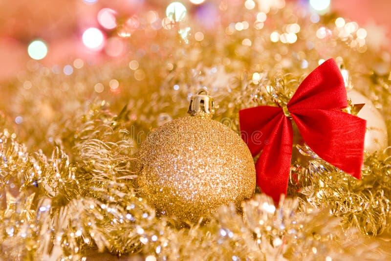 Ouro do Natal imagem de stock