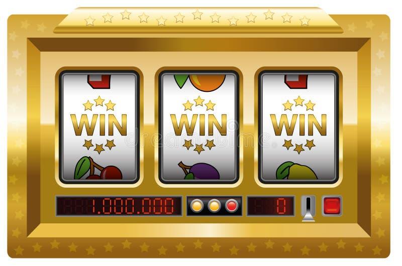 Ouro do slot machine da vitória ilustração stock