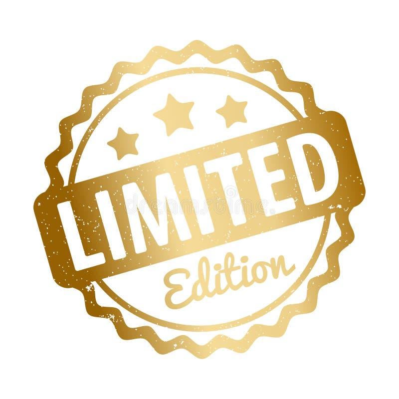 Ouro do vetor da concessão do carimbo de borracha da edição limitada em um fundo branco ilustração stock