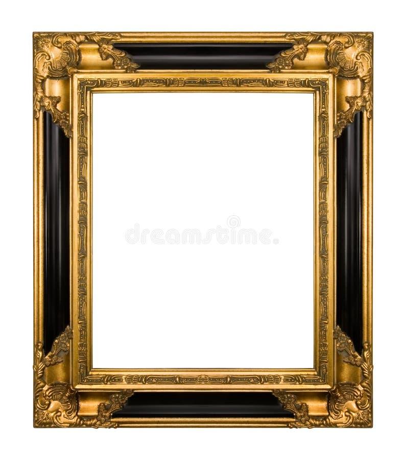 Ouro do vintage e frame ornamentado preto do piano