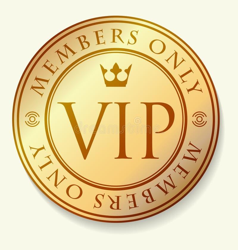 Ouro e decoração vermelha do VIP com quadro redondo, membros do subtítulo somente ilustração do vetor
