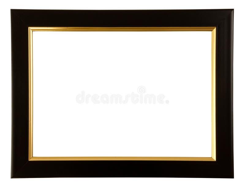 Ouro e frame preto da cor fotografia de stock