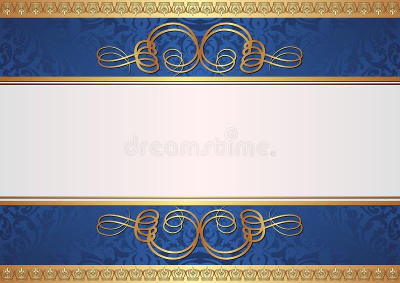Ouro E Fundo Azul Imagens de Stock Royalty Free